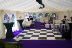 40th Birthday Party Marquee Dancefloor and Pod Tables No.1 Delgany Co.Wicklow February 2017