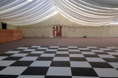 Community Hall Marquee Draping and dancefloor Tullamore Co.Westmeath October 2016