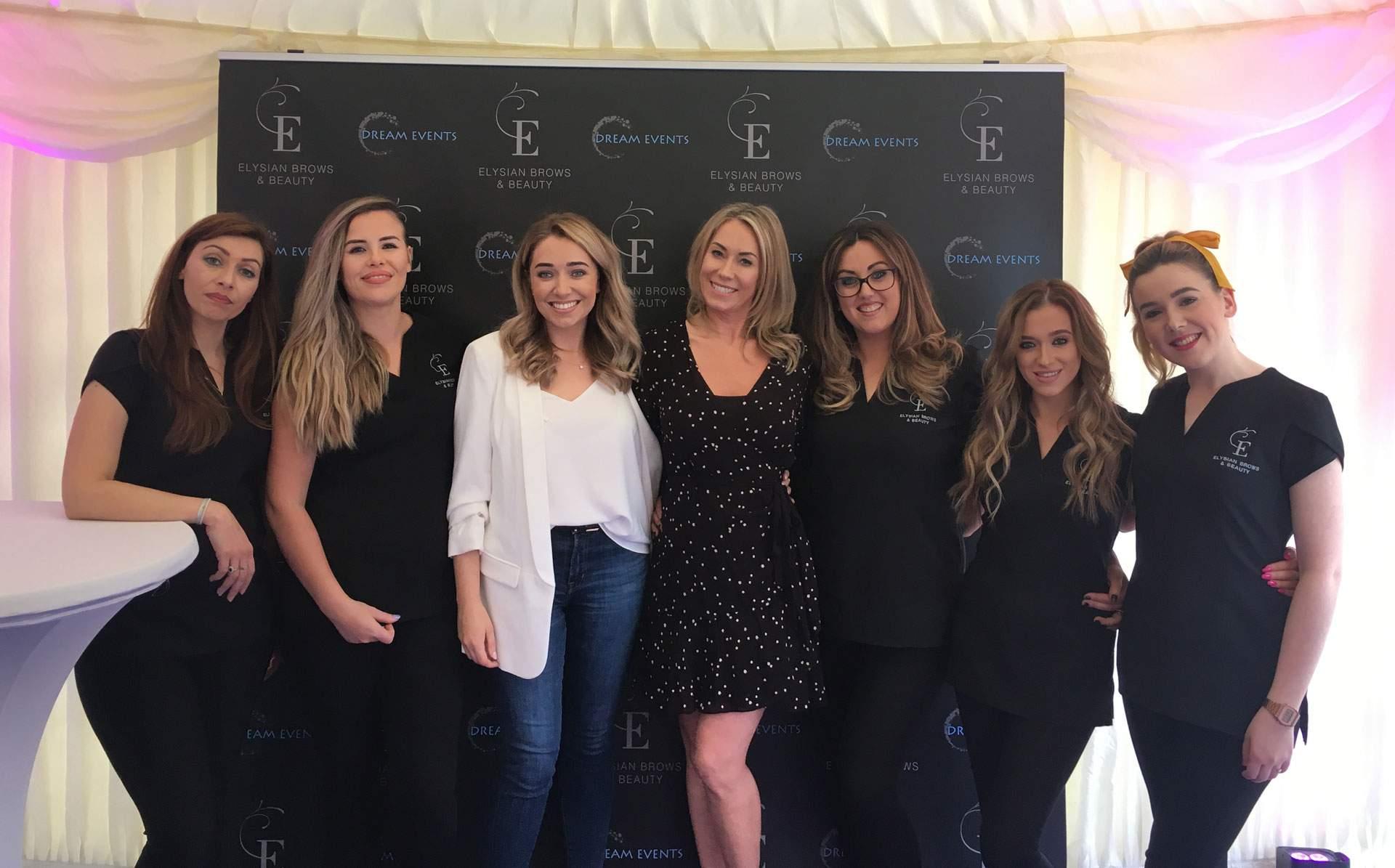 Elysian Brows Greystones Launch Party April 2019